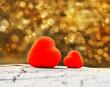 Obrazy na płótnie, fototapety, zdjęcia, fotoobrazy drukowane : two hearts and valentines day