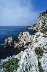 Italy, Molise, Tremiti Islands, view of the rocky coast