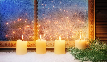 4. Advent, Fensterschmuck