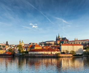 View Gradchany (Prague Castle) and St. Vitus Cathedral over Vlta