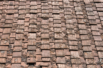 ancient terracotta roof tile, italy
