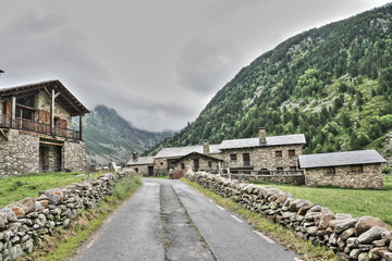 Village, Vallée d'Inclès en Andorre.