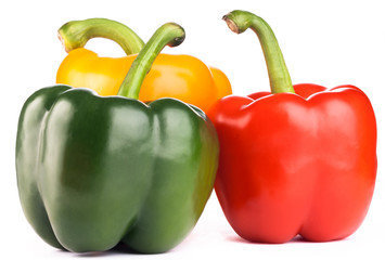 green,red,yellow peppers