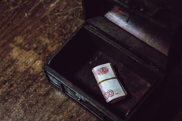 Bundle of money box