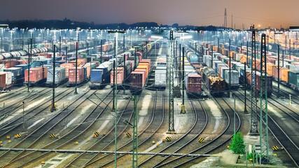 Güterbahnhof in Maschen
