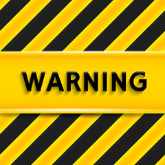 Warning sign. Vector illustration