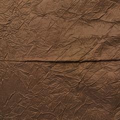 Brown silk cloth material fragment