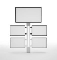 3d display stand consisting of five panels