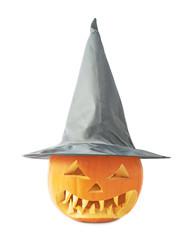 Jack-o'-lanterns pumpkin in a hat