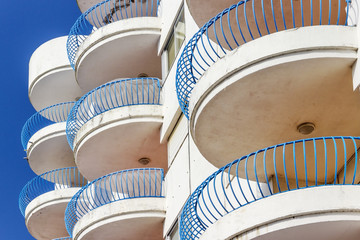 Rounded balconies