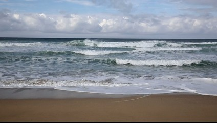 Waves on Fistral beach Newquay North Cornwall England UK