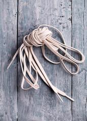 White shoelace