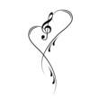 Notenschlüssel Noten Musik Vektor - 74044536