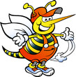 Obrazy na płótnie, fototapety, zdjęcia, fotoobrazy drukowane : A Happy Handyman Bee