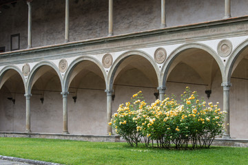 Cloister of Brunelleschi in the Basilica of Santa Croce in Flore