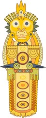 Gold Indian totem
