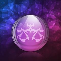 Luminescent snow globe with zodiac Libra sign