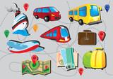 travel icon set - 74046385