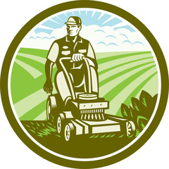 Ride On Lawn Mower Vintage Retro