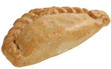 cornish pasty on white