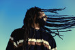 "Happy man with ""windy"" dreadlocks. Caribbeans. - 74046916"