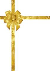Schmuckschleife in gold