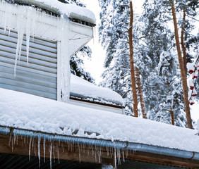 Country house with icicles