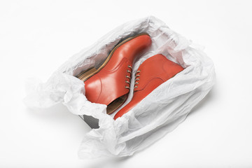new red shoes in box