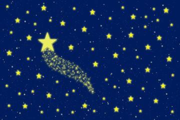 Comet in the starry sky