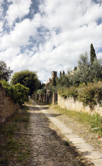 Cortona medieval Tusdcan town
