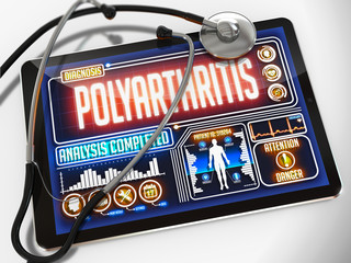 Polyarthritis on the Display of Medical Tablet.