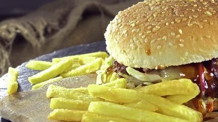 Rotating Cheeseburger (seamless loopable)