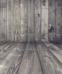 Black wood plank texture for background