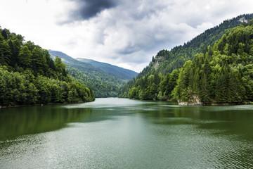 Landscape with Vidraru lake , Romania