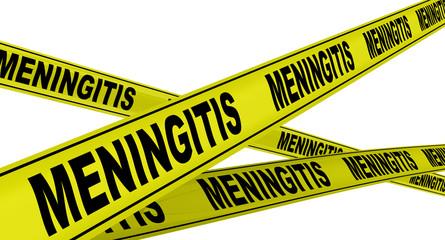 Менингит (meningitis). Желтая оградительная лента