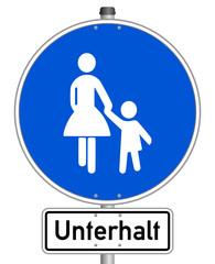 Unterhalt Schild  #141201-svg09