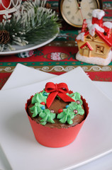 muffins in the form of a Christmas wreath