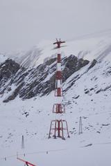Mast für Gondeln im Hochgebirge