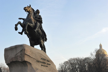 Monument of Russian emperor Peter the Great, known as The Bronze