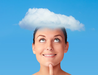 Mind in a cloud, female