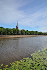 Koenigsberg Cathedral on the Kneiphof island. Kaliningrad, Russi