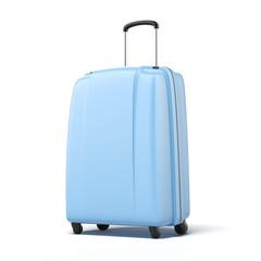 Blue large suitcase