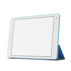 Modern blue tablet pc