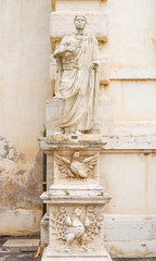 Statue at Villa Borghese museum in Rome, Italy.