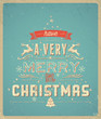 Typography Christmas Greeting Card