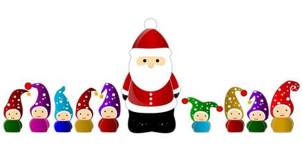 christmas santa clause and gnomes