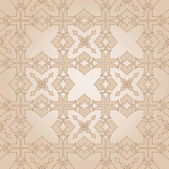 Decorative beige seamless texture in Victorian style.