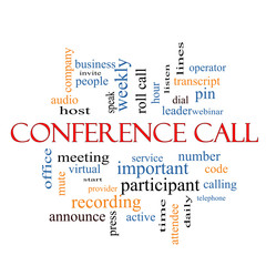 Conference Call Word Cloud Concept