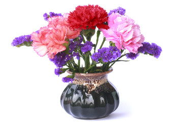 Colorful flower bunch - Stock Image