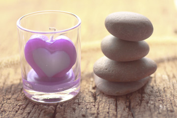 Heart shaped candles - Stock Image